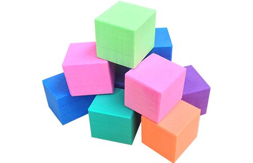 cubes plastazote jeux flottants