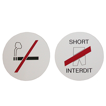 panneaux signaletiques ronds interdiction